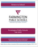 Farmington Releases Return to School Report